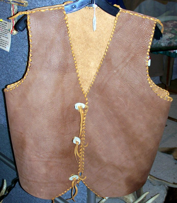 Elk hide vests elk hide vests http www elkhorntrading net leather